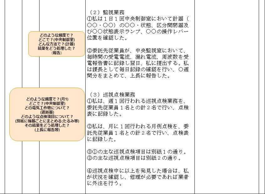 電気主任技術者実務経験証明書その②略歴